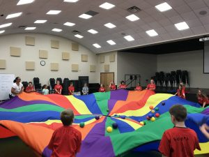 parachute fun with balls